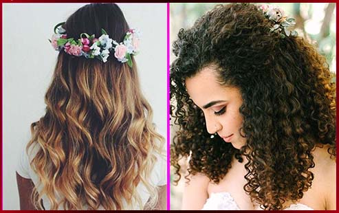 Simple Best Bridal Hairstyles With Curly Hair Fabulessinheels